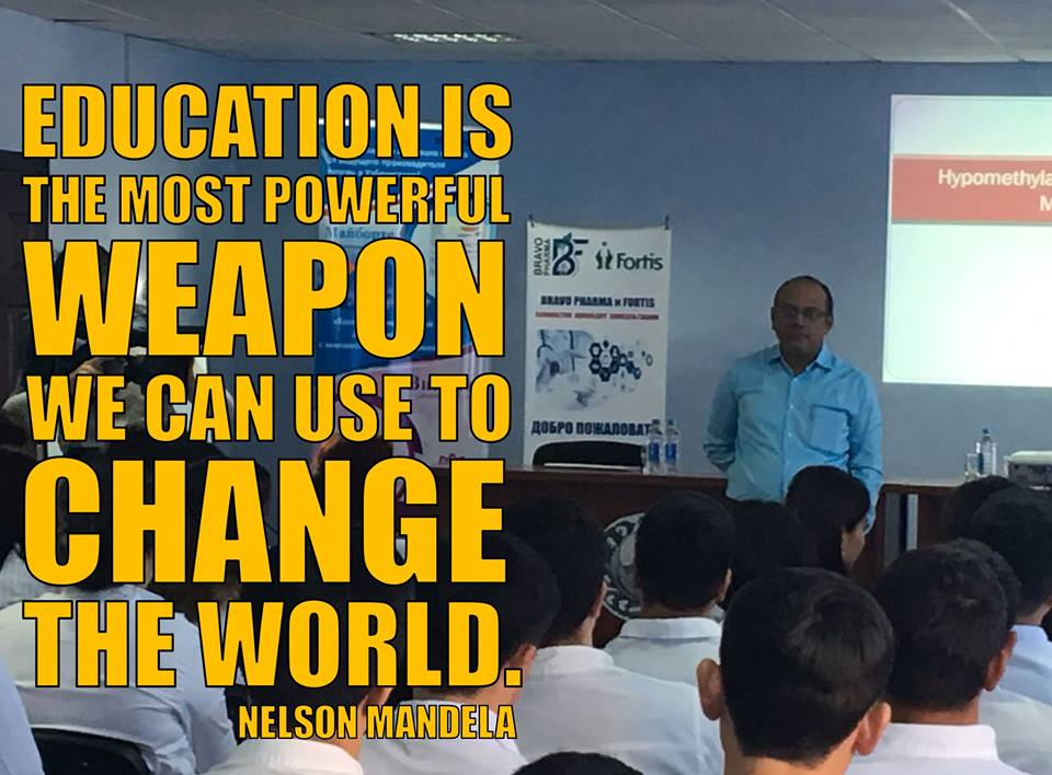Education Is The Most Powerful Weapon Which You Can Use To Change The World - Dr. Rahul