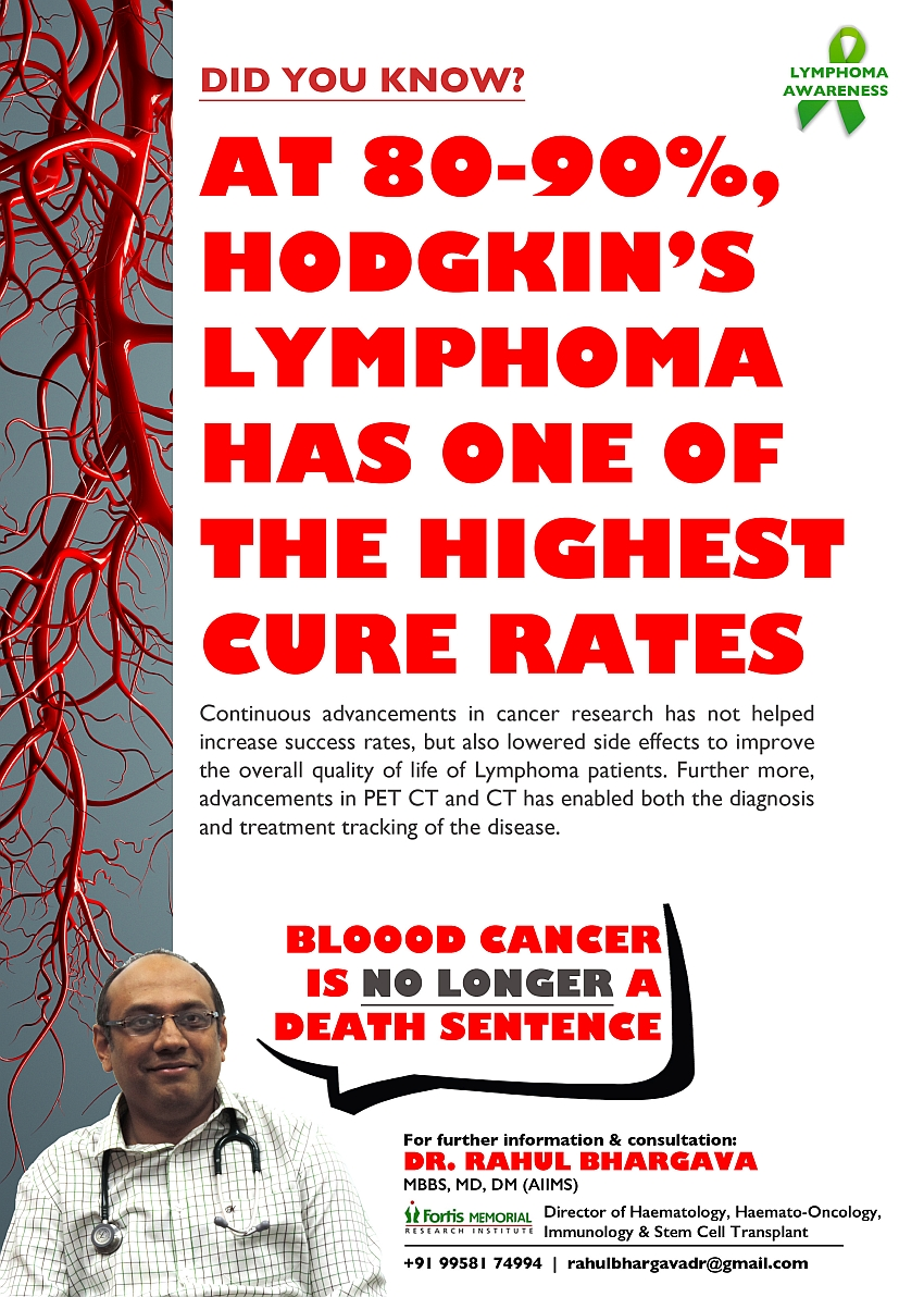 At 80-90% Hodgkins Lymphoma Has One Of The Highest Cure Rates