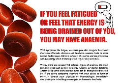 If You feel fatigued or feel that energy is being drained out of you, you may have anaemia
